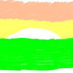 Sketch of a sunset